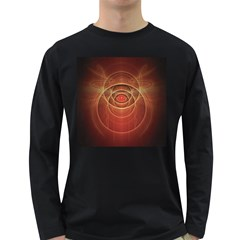 The Rusty Red Fractal Scarab of Fiery Old Man Ra Long Sleeve Dark T-Shirts