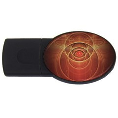The Rusty Red Fractal Scarab of Fiery Old Man Ra USB Flash Drive Oval (4 GB)