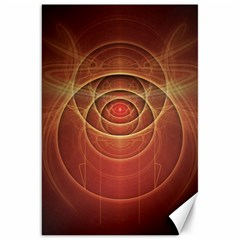 The Rusty Red Fractal Scarab of Fiery Old Man Ra Canvas 20  x 30