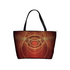 The Rusty Red Fractal Scarab of Fiery Old Man Ra Shoulder Handbags