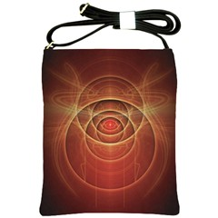 The Rusty Red Fractal Scarab of Fiery Old Man Ra Shoulder Sling Bags