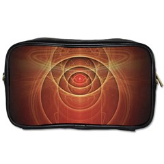 The Rusty Red Fractal Scarab of Fiery Old Man Ra Toiletries Bags 2-Side