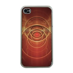The Rusty Red Fractal Scarab of Fiery Old Man Ra Apple iPhone 4 Case (Clear)