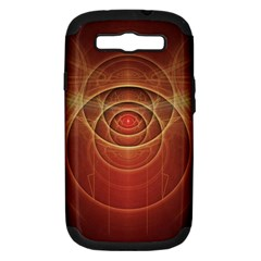 The Rusty Red Fractal Scarab Of Fiery Old Man Ra Samsung Galaxy S Iii Hardshell Case (pc+silicone)