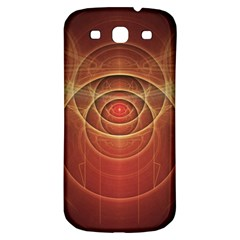 The Rusty Red Fractal Scarab of Fiery Old Man Ra Samsung Galaxy S3 S III Classic Hardshell Back Case