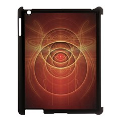 The Rusty Red Fractal Scarab of Fiery Old Man Ra Apple iPad 3/4 Case (Black)