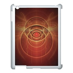 The Rusty Red Fractal Scarab Of Fiery Old Man Ra Apple Ipad 3/4 Case (white)
