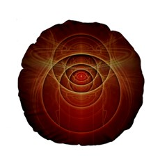 The Rusty Red Fractal Scarab of Fiery Old Man Ra Standard 15  Premium Round Cushions