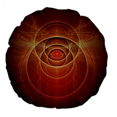 The Rusty Red Fractal Scarab of Fiery Old Man Ra Large 18  Premium Round Cushions