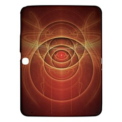 The Rusty Red Fractal Scarab of Fiery Old Man Ra Samsung Galaxy Tab 3 (10.1 ) P5200 Hardshell Case