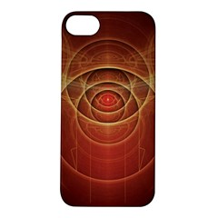 The Rusty Red Fractal Scarab of Fiery Old Man Ra Apple iPhone 5S/ SE Hardshell Case