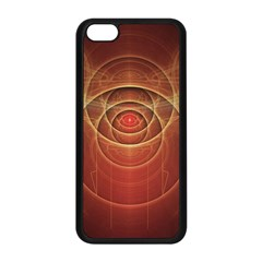 The Rusty Red Fractal Scarab of Fiery Old Man Ra Apple iPhone 5C Seamless Case (Black)
