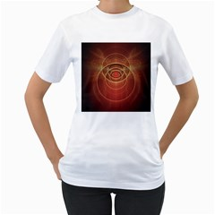 The Rusty Red Fractal Scarab of Fiery Old Man Ra Women s T-Shirt (White)
