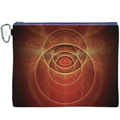The Rusty Red Fractal Scarab of Fiery Old Man Ra Canvas Cosmetic Bag (XXXL)