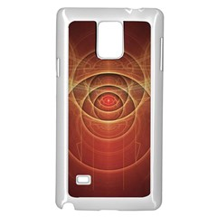 The Rusty Red Fractal Scarab of Fiery Old Man Ra Samsung Galaxy Note 4 Case (White)