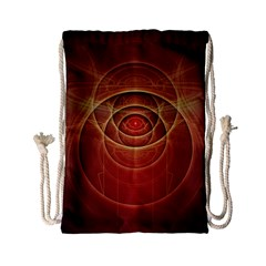 The Rusty Red Fractal Scarab of Fiery Old Man Ra Drawstring Bag (Small)