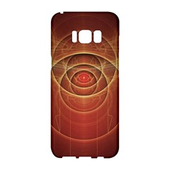 The Rusty Red Fractal Scarab Of Fiery Old Man Ra Samsung Galaxy S8 Hardshell Case