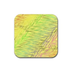 Paint on a yellow background                        Rubber Square Coaster (4 pack