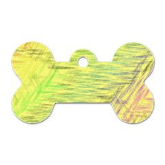 Paint on a yellow background                        Dog Tag Bone (One Side)