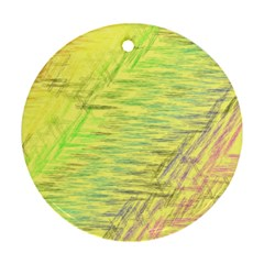 Paint on a yellow background                        Ornament (Round)