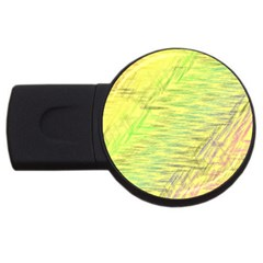 Paint on a yellow background                        USB Flash Drive Round (2 GB)