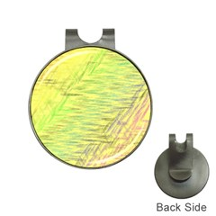 Paint on a yellow background                        Golf Ball Marker Hat Clip