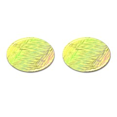 Paint on a yellow background                        Cufflinks (Oval)