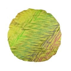 Paint on a yellow background                  Standard 15  Premium Flano Round Cushion