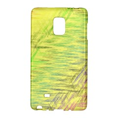 Paint on a yellow background                  Samsung Galaxy Note 4 Leather Folio