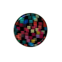 Colorful horizontal paint strokes                         Hat Clip Ball Marker