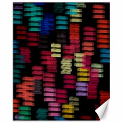 Colorful horizontal paint strokes                         Canvas 16  x 20