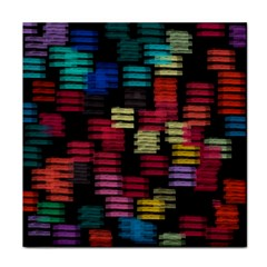 Colorful horizontal paint strokes                         Face Towel