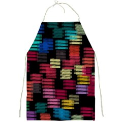 Colorful horizontal paint strokes                         Full Print Apron