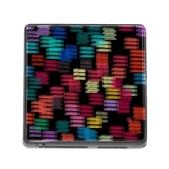 Colorful horizontal paint strokes                         Memory Card Reader (Square)