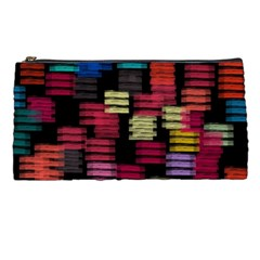 Colorful horizontal paint strokes                   Pencil Case
