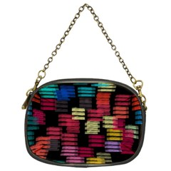 Colorful horizontal paint strokes                    Chain Purse (Two Sides)