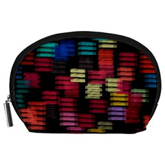 Colorful Horizontal Paint Strokes                         Accessory Pouch
