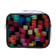 Colorful horizontal paint strokes                         Mini Toiletries Bag (One Side)