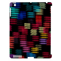 Colorful horizontal paint strokes                   Apple iPad 3/4 Hardshell Case (Compatible with Smart Cover)