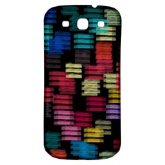 Colorful horizontal paint strokes                   Samsung Galaxy S III Flip 360 Case