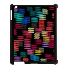 Colorful horizontal paint strokes                   Apple iPad Mini Hardshell Case (Compatible with Smart Cover)