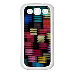 Colorful horizontal paint strokes                   Samsung Galaxy S7710 Xcover 2 Hardshell Case