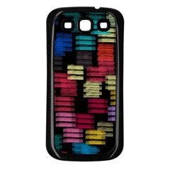 Colorful horizontal paint strokes                   Samsung Galaxy S3 Back Case (White)