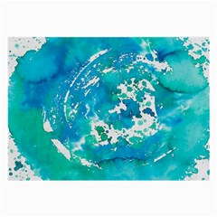 Blue Watercolors Circle                          Large Glasses Cloth