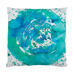 Blue Watercolors Circle                    Standard Cushion Case (two Sides)