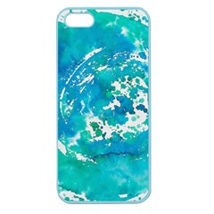 Blue Watercolors Circle                    Apple Seamless Iphone 5 Case (clear)