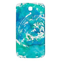 Blue watercolors circle                    Samsung Galaxy Note 4 PU Leather Hardshell Back Case