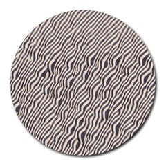 Zebra Pattern Animal Print Round Mousepads