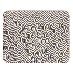 Zebra Pattern Animal Print Double Sided Flano Blanket (Large)