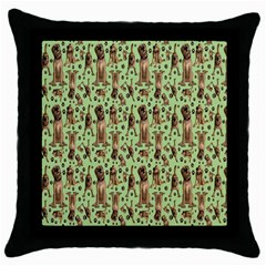 Puppy Dog Pattern Throw Pillow Case (Black)